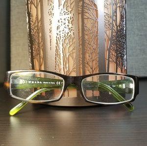 Prada Dark Havana & Green Eyeglass Frames